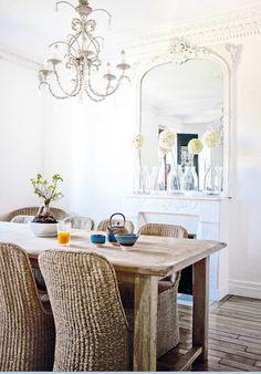 Whitewashed mirror..dinning room
