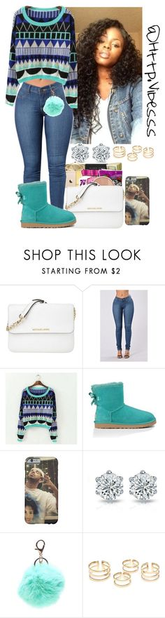 """Untitled #940"" by jazaiah7 ❤ liked on Polyvore featuring Michael Kors, JVL and UGG Australia"