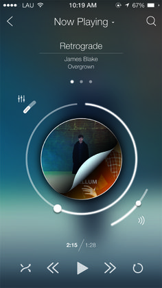 iOS 7 Re-design Concepts for new Experience | Graphics Design | Design Blog | #musicplayer