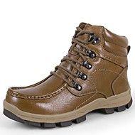 Masculino Tênis Conforto Botas de Neve Curta/Ankle Sapatos formais Sapatos de mergulho Forro de fluff Inverno Pele Real Pele Napa Pele