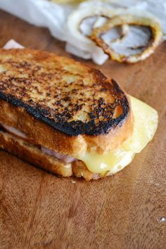 Jarlsberg Grilled Cheese Sandwich - gooey, scrumptious comfort food at its best! dineanddish.net