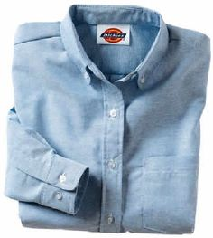 ceef98b9 Dickies 254 Women'S Button-Down Oxford Shirts - Long Sleeve http://www