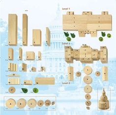 Amazon.com: HABA Capitol Wooden Architectural Building Blocks - 70 Piece Set: Toys & Games