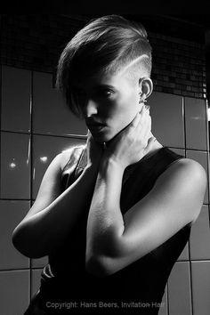 Model: Claudia Schuurmans Hair: Hans Beers, Invitation Hair Make up: Melanie Zwienenbarg Photography: Hans Beers