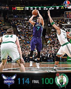 Charlotte Hornets snap their 4-game losing streak vs. Boston Celtics with a 114-100 win.  Jeremy Lin puts up 25 Pts off the bench. 4/11/2016