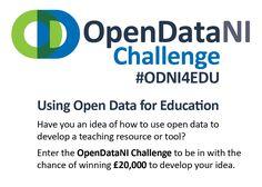 OpenDataNI Challenge - Open Data NI Open Data, Ireland, Public, Challenges, Teaching, Education, Irish, Onderwijs, Learning