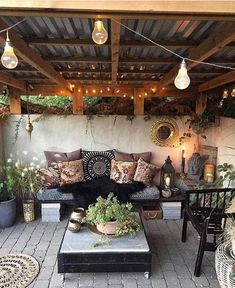So a client sent this to me as an inspo for their backyard patio design. They wa… - Backyard Designs Outdoor Rooms, Outdoor Decor, Outdoor Patio Decorating, Lanai Decorating, Rustic Outdoor Spaces, Outdoor Living Patios, Screened Porch Decorating, Outdoor Hammock, Backyard Patio Designs