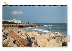 Kure Beach Carry-all Pouch featuring the photograph Carolina Coast by Cynthia Guinn