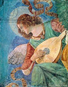 Angel Musician (fresco), Forli, Melozzo da (1438-94) / Vatican Museums and Galleries, Vatican City, Italy / Giraudon / The Bridgeman Art Library
