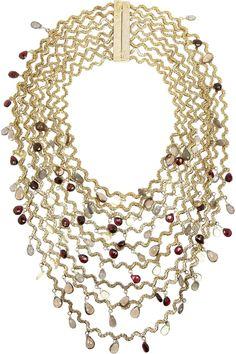 Rosantica|Onde gold-dipped multi-stone necklace|NET-A-PORTER.COM
