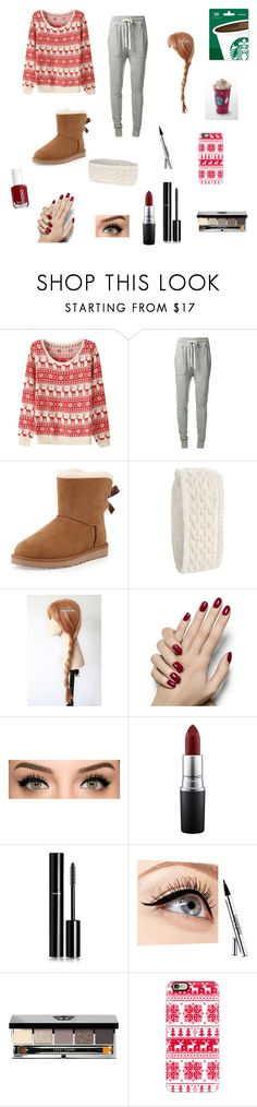 """""""Christmas Eve Eve"""" by lkr82203 ❤ liked on Polyvore featuring James Perse, UGG Australia, Echo, Disney, MAC Cosmetics, Chanel, Luminess Air, Essie, Bobbi Brown Cosmetics and Casetify"""