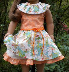 Sleeveless dress for 18 dolls like American by mydollyscloset1