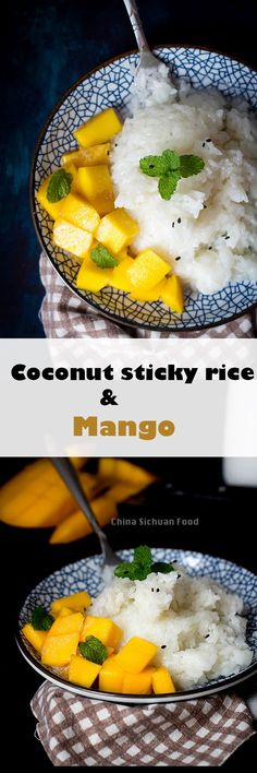 Thai Sticky Rice Recipe with Mango. This is so good in our favorite Thai restaurant, so I am intrigued.