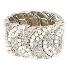 Jenny Packham pearl, gold bead stone bracelet | eBay