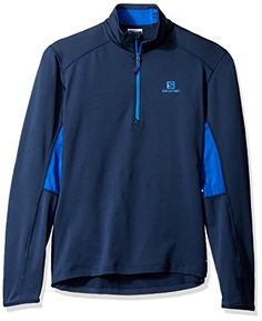 Salomon Mens Discovery Active HZ Hoodie Big BlueXBlue Yonder Large *** You can find out more details at the link of the image. This is an Amazon Affiliate links.