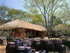 Korean Traditional, Traditional House, Korean Art, Old Pictures, Country Life, Photo Art, Gazebo, Beautiful Places, Scenery