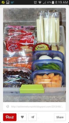 Snacks prepackaged for kids to grab and go