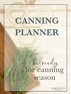 If you're wanting a more organized and productive canning season, start planning ahead of time. This free printable canning planner and calendar will help you organize all your preserving tasks for the year- getting supplies, planning, and keeping track o Pressure Canning Recipes, Home Canning Recipes, Canning Tips, Pressure Cooking, Canning Food Preservation, Preserving Food, Canning Vegetables, Veggies, Canning Supplies