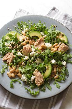 avocado white bean and arugula salad oil packed tuna avocado white ...