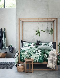 This leaf-print duvet cover set will make you feel like your on a tropical vacay.
