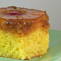 i LOVE pineapple upside down cake.  trying this easy recipe soon!
