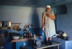 Russian old #woman refit the #kitchen. 1990-1995