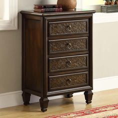Monarch Specialties I 3822 Four Drawer Bombay Chest - Home Furniture Showroom