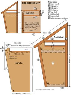 How to build a mailbox. The mailbox plansYou can find Woodworking and more on our website.How to build a mailbox. The mailbox plans Woodworking Workshop Plans, Woodworking Furniture Plans, Beginner Woodworking Projects, Learn Woodworking, Woodworking Books, Woodworking Courses, Woodworking Chisels, Woodworking Patterns, Woodworking Supplies