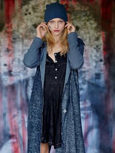 Free People Washed Indigo Duster Jacket at Free People Clothing Boutique