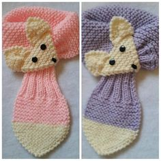 Stretch Baby/Toddler Adjustable Fox Stripe Scarf by QuiltNCrochet