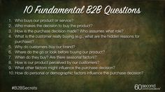 Here are 10 questions every marketer should use to lay the foundation for a successful campaign. - Love a good success story? Learn how I went from zero to 1 million in sales in 5 months with an e-commerce store. Direct Marketing, Internet Marketing, Marketing And Advertising, Digital Marketing, Sales Techniques, Marketing Techniques, Business Marketing Strategies, Business Tips, Work Tools