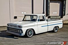 "James Otto's ""For Pete's Sake"" 1966 Chevy C10 truck riding on RideTech suspension, 295/35ZR19 & 345/30ZR19 Michelin Pilot Super Sport tires, and 19x10 & 19x12 Forgeline RB3C wheels finished with Titanium centers and Brushed outers! See more at: http://www.forgeline.com/customer_gallery_view.php?cvk=1654  Photos courtesy of lateral-g.net. #Forgeline #RB3C #notjustanotherprettywheel #madeinUSA #Chevrolet #Chevy #C10 #pickup #TruckTuesday"