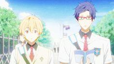 These blushing dorks. Kawaii :3. Free. Reigisa. Nagisa. Rei.