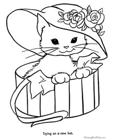 Cat Colouring Pages Printable Coloring Pages