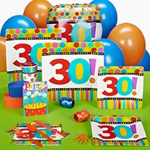 Bright and colorful 30th Birthday party supplies from Punchbowl