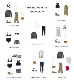 Packing list: Asheville outfits