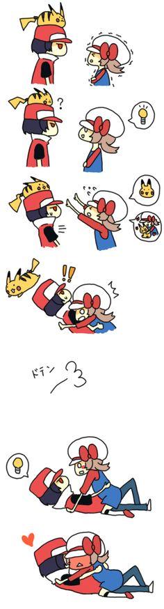 Pikachu, Red (Pokémon), Lyra/Kotone (Pokémon)