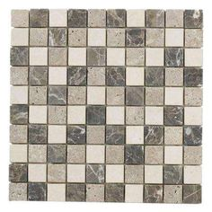 Emperador Mix 12 in. x 12 in. x 8 mm Marble Mosaic Floor/Wall Tile