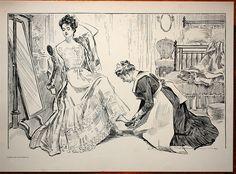 In the 1890s, the American illustrator.....Charles Dana Gibson