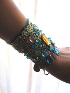 "amazing turquoise gypsy bracelet by a fabulous artist called ""allthingspretty"" on etsy"