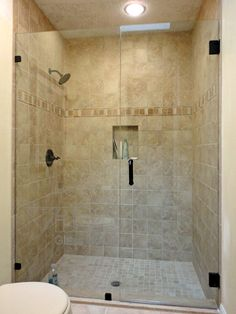Frameless Inline Glass Shower Door Secured With U Channel
