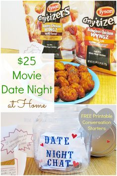 #Ad - Movie Date Night at Home for less than $25! Includes FREE Printable Conversation Starters! #TysonAndAMovie