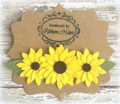 Sunflower Headband for Baby Girls In Yellow Felt by Ribbonhabit