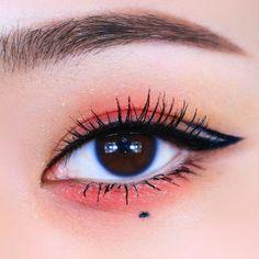 Edgy Makeup, Eye Makeup Art, No Eyeliner Makeup, Cute Makeup, Pretty Makeup, Beauty Makeup, Korean Eye Makeup, Asian Makeup, Ulzzang Makeup