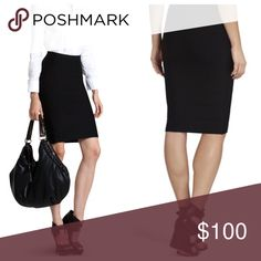 BCBGMaxazria Sweater Pencil Skirt! Brand New! Hesitant to sell. It's flawless classic. Knit sweater material. Jet black XS but this  brand runs big. BCBGMaxAzria Skirts Pencil