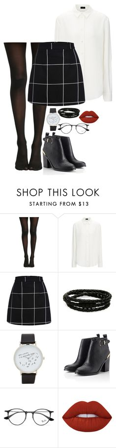 """""""ana"""" by elizagardener ❤ liked on Polyvore featuring WithChic, Porsche Design, ALDO, Lipsy, Ray-Ban and Lime Crime"""
