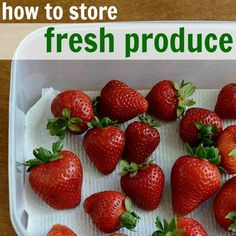This was actually super helpful!  How to Store Fresh Produce - Real Food Real Deals