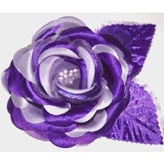 Lavender Purple Rose Flower Hair Clip Prom Wedding Bridesmai ...