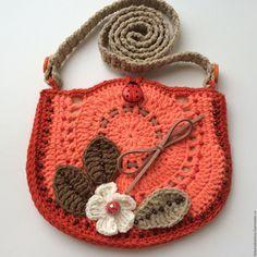 Купить Сумочка для девочки вязаная Тыковка - рыжий, абстрактный, сумочка ручной работы, сумочка крючком