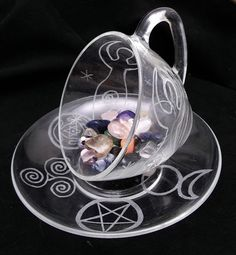 Magick Ritual Sacred Tools:  Wiccan Teacup and #Crystals, by WiseWomanCollective.